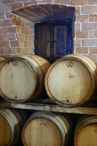 Barrel stack.  Siena, Italy