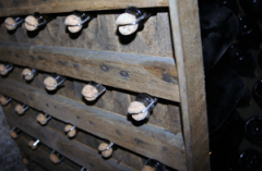 Champagne undergoing Rémuage, Epernay